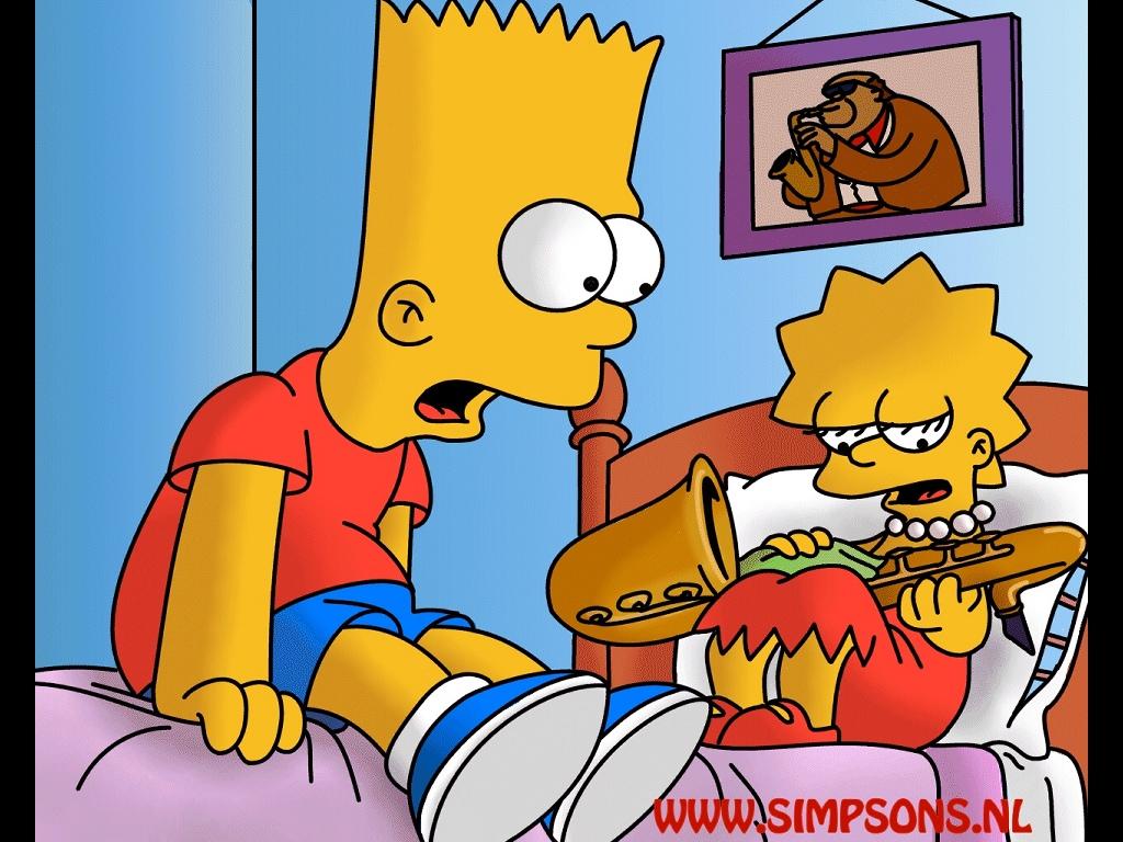 Cartoons Wallpaper: Simpsons - Bart and Lisa