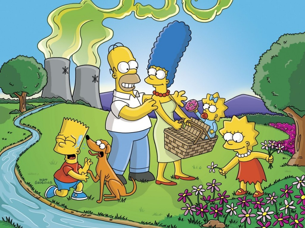Cartoons Wallpaper: Simpsons - Camping