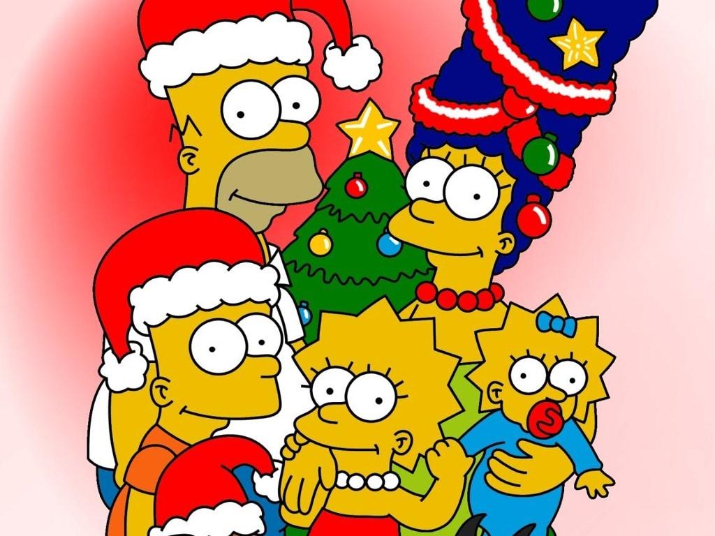 Cartoons Wallpaper: Simpsons - Christmas