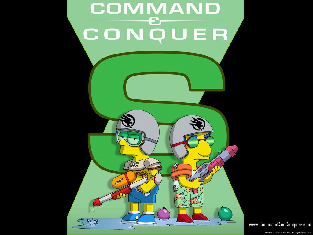 Cartoons Wallpaper: Simpsons - Command and Conquer