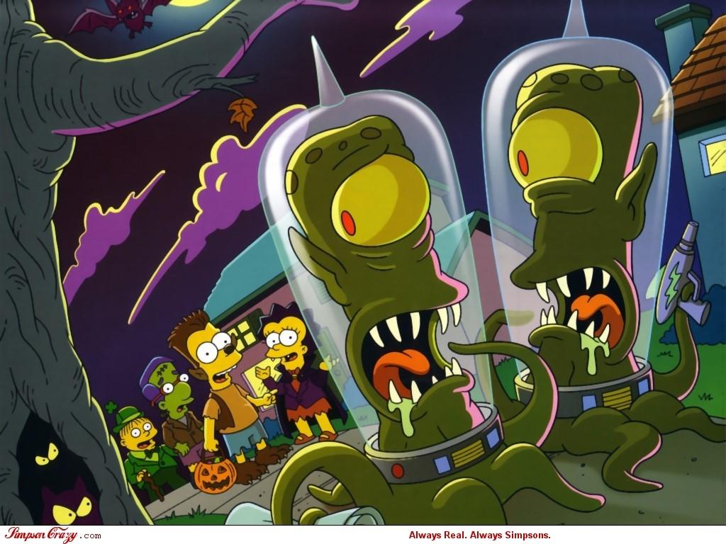 Cartoons Wallpaper: Simpsons - Halloween