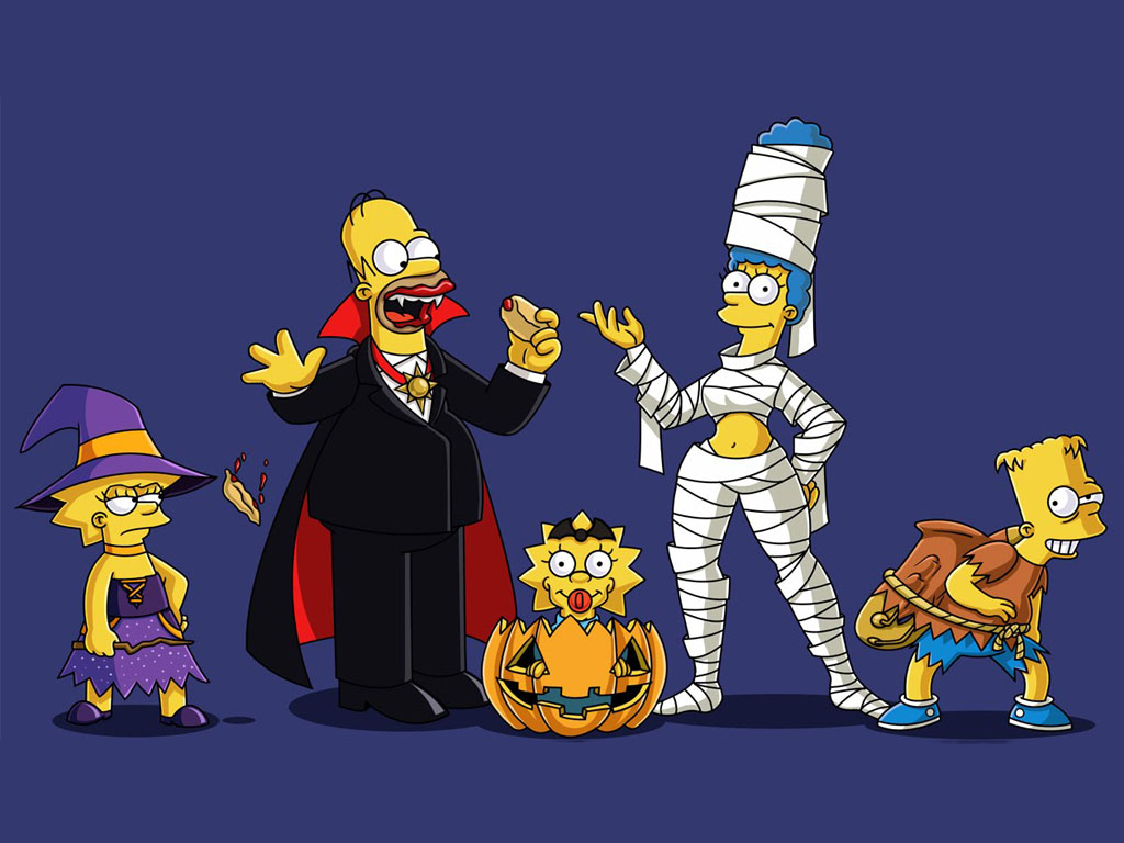 Cartoons Wallpaper: The Simpsons - Halloween