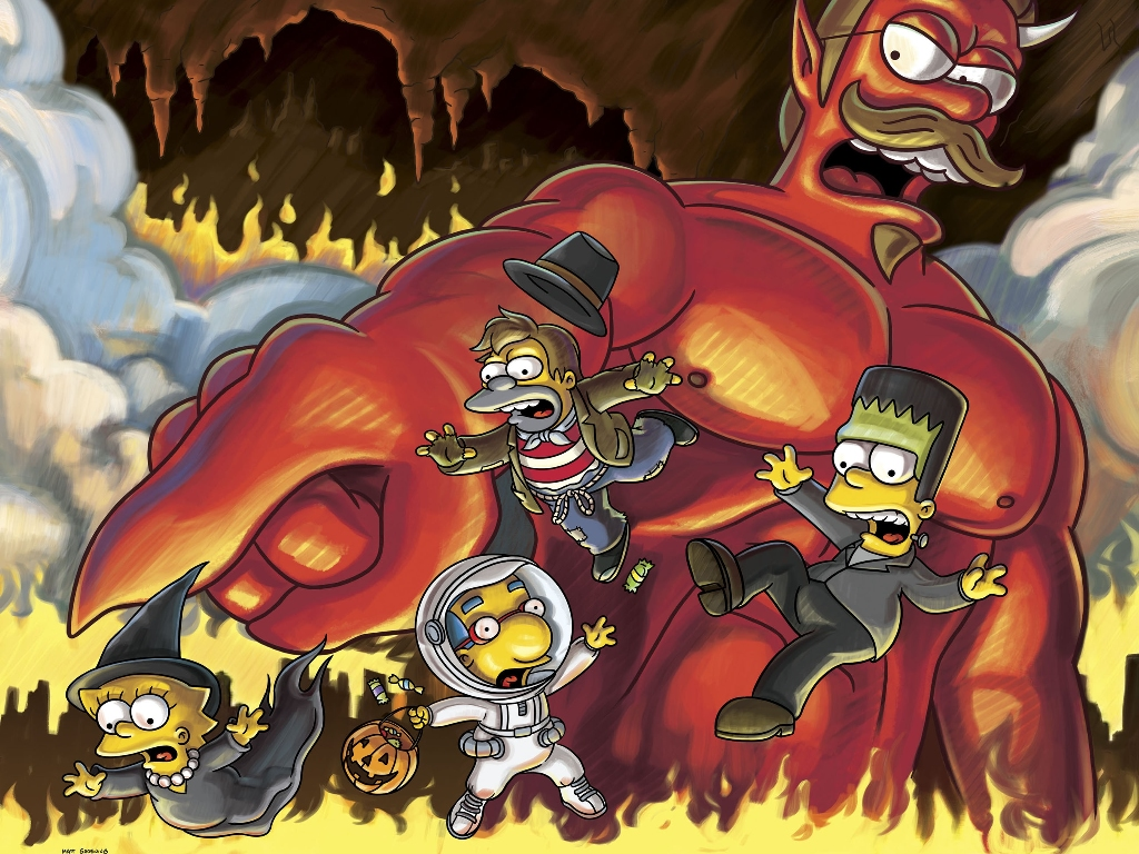 Cartoons Wallpaper: Simpsons - Halloween