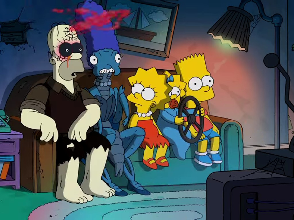 Cartoons Wallpaper: Simpsons - Horror Couch Gag