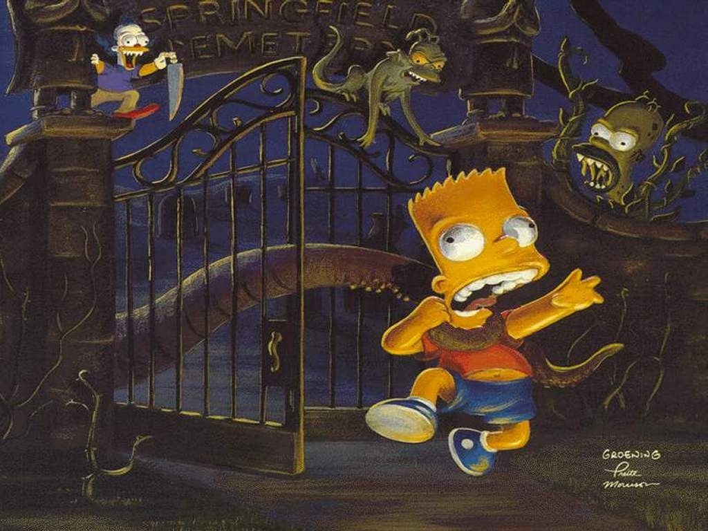 Cartoons Wallpaper: Simpsons - Horror Show