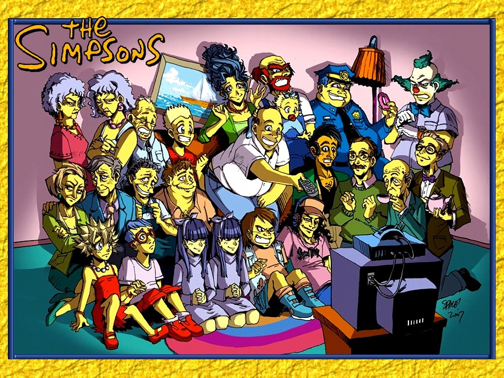 Cartoons Wallpaper: The Simpsons - Manga