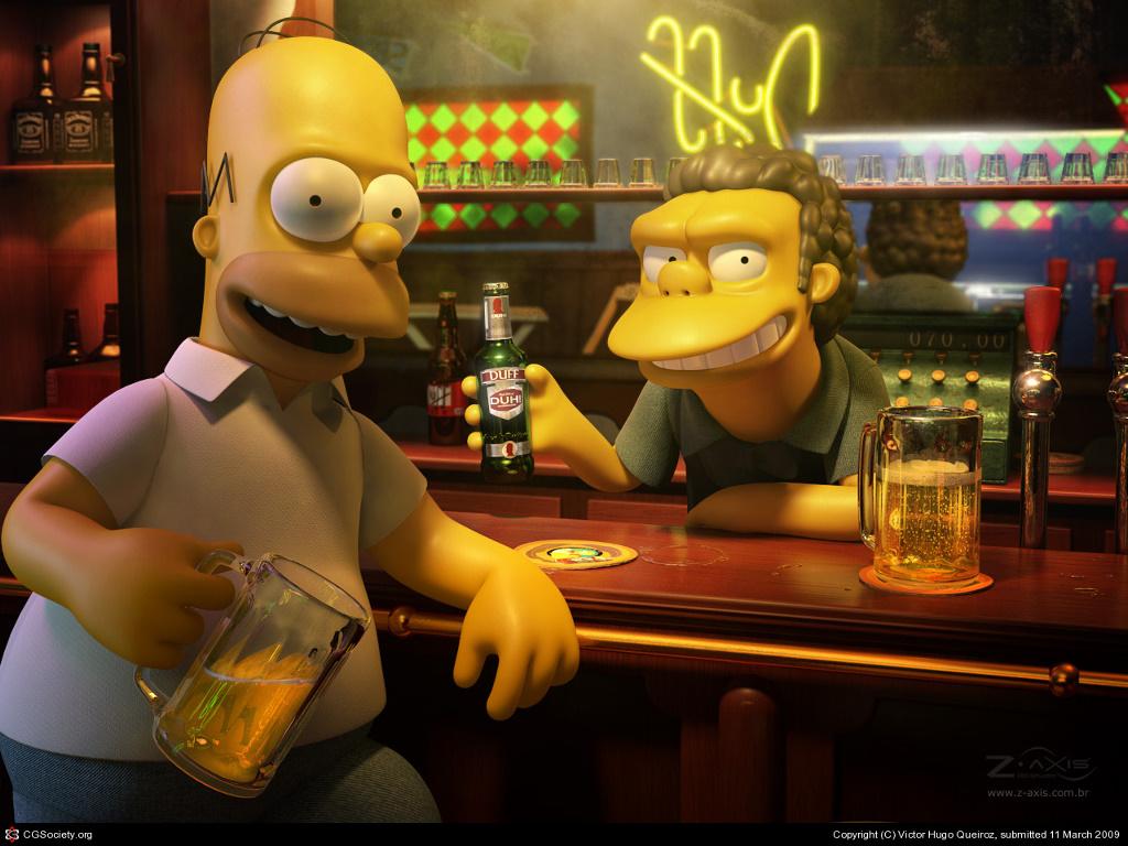 Cartoons Wallpaper: Simpsons - Moe's (3D)