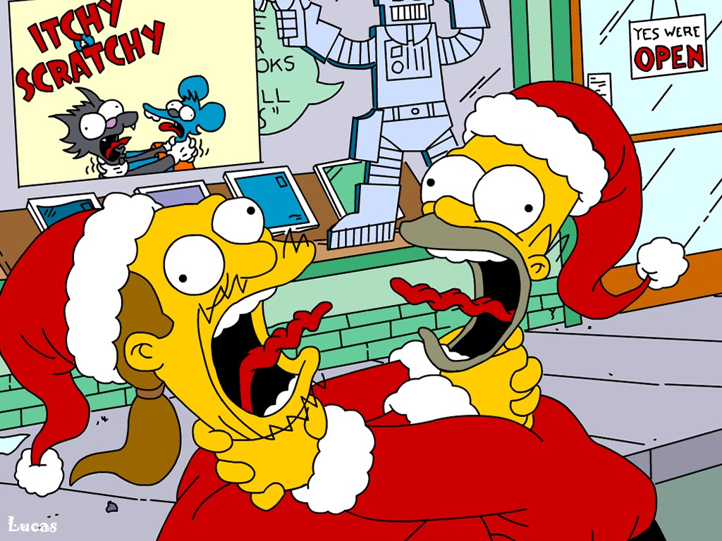 Cartoons Wallpaper: Simpsons - Santas