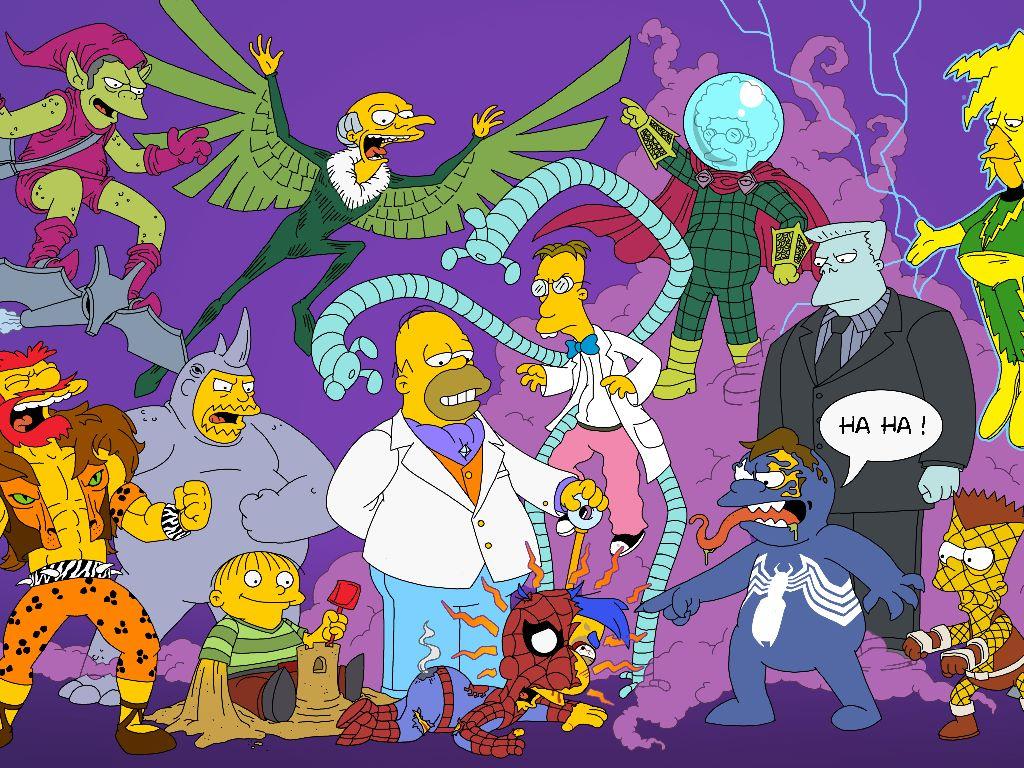 Cartoons Wallpaper: Simpsons - Spider-Man