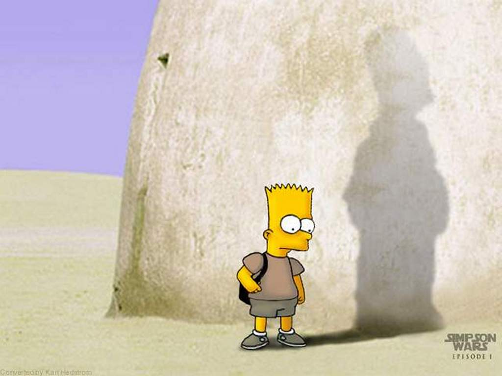 Cartoons Wallpaper: Simpsons - Star Wars