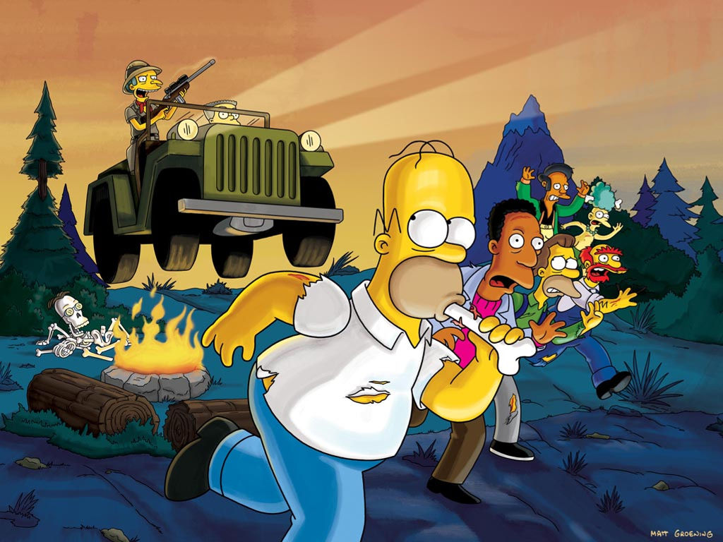 Cartoons Wallpaper: Simpsons - Survival