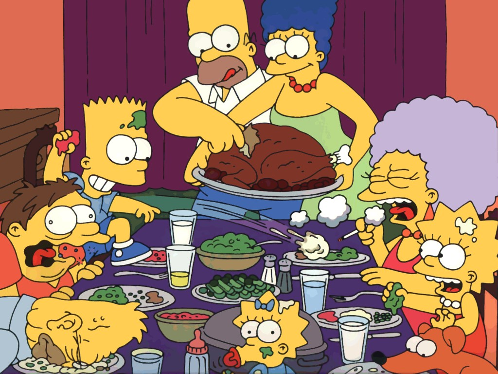 Cartoons Wallpaper: Simpsons - Thanksgiving