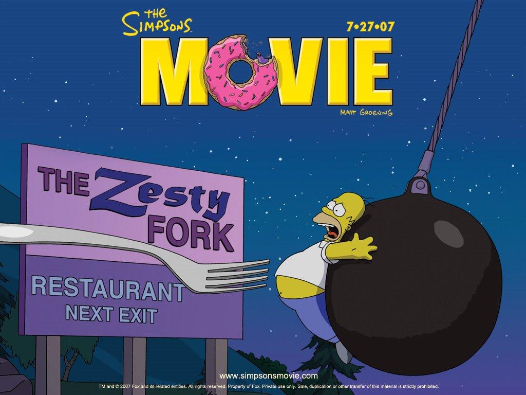 Cartoons Wallpaper: The Simpsons Movie
