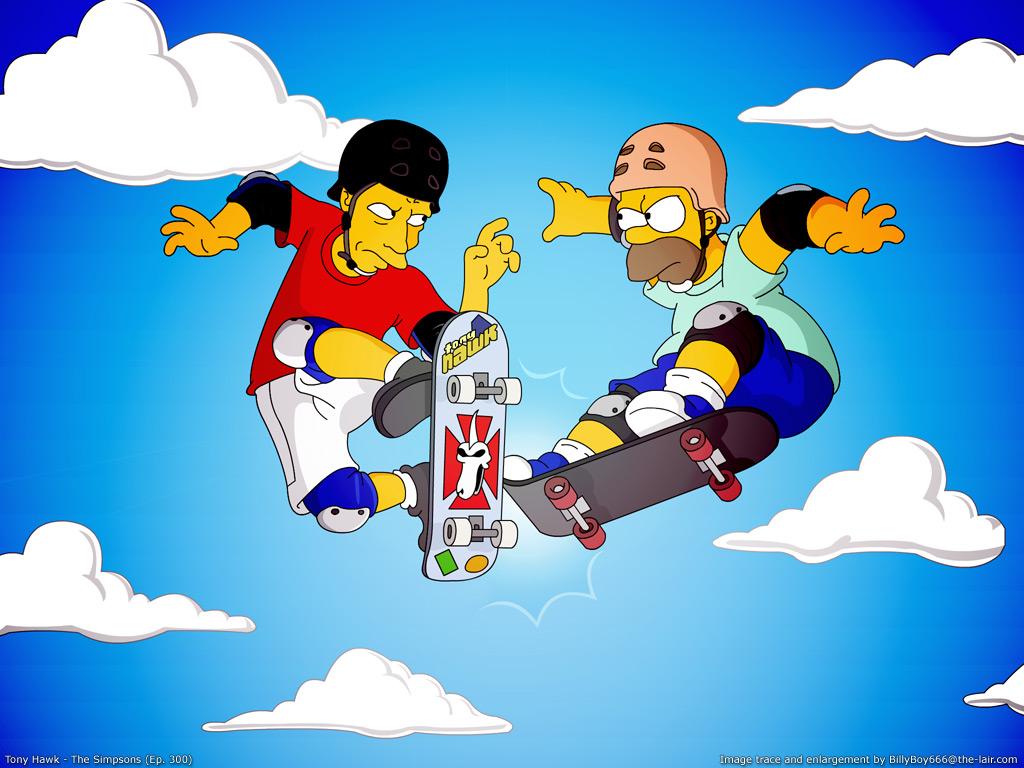 Cartoons Wallpaper: Simpsons - Tony Hawk