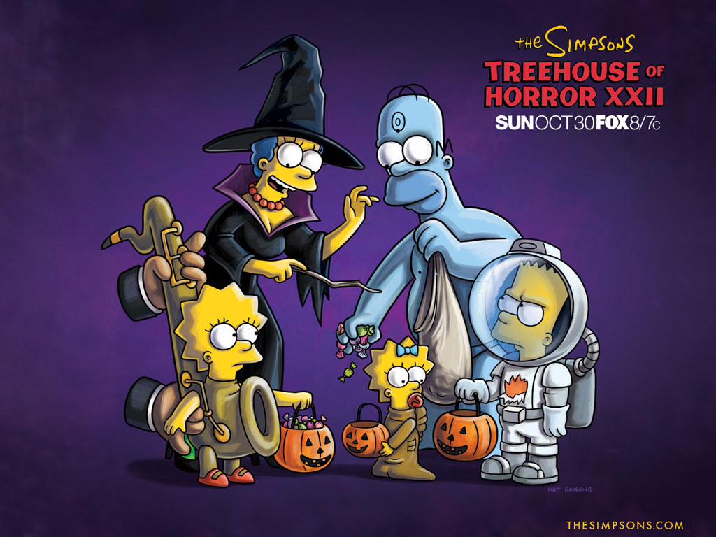 Cartoons Wallpaper: The Simpsons - Treehouse of Horror XXII