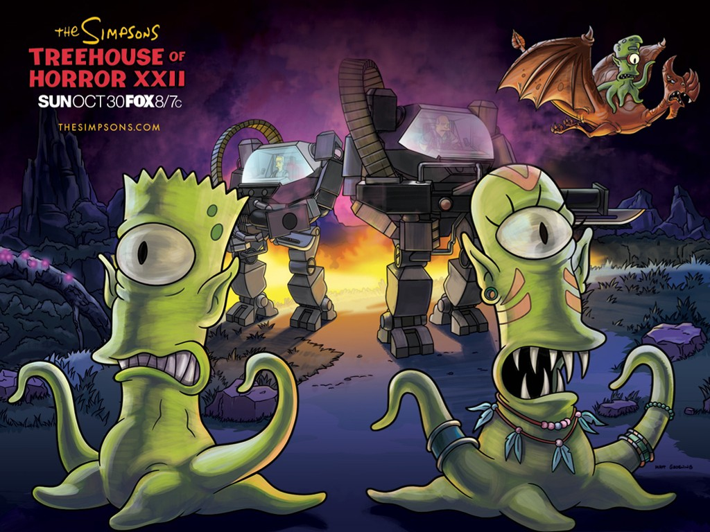 Cartoons Wallpaper: Simpsons - Treehouse of Horror XXII