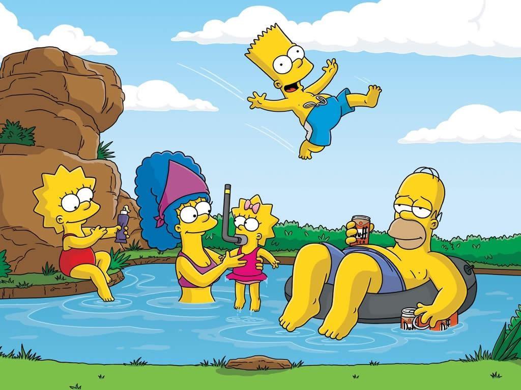 Cartoons Wallpaper: Simpsons - Vacation