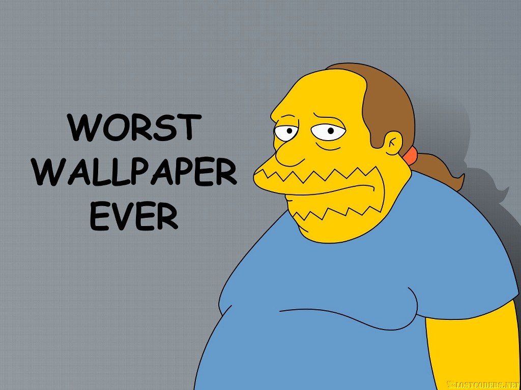 Cartoons Wallpaper: Simpsons - Worst Wallpaper Ever