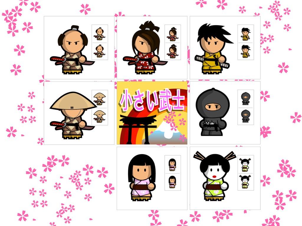 Cartoons Wallpaper: Small Samurais