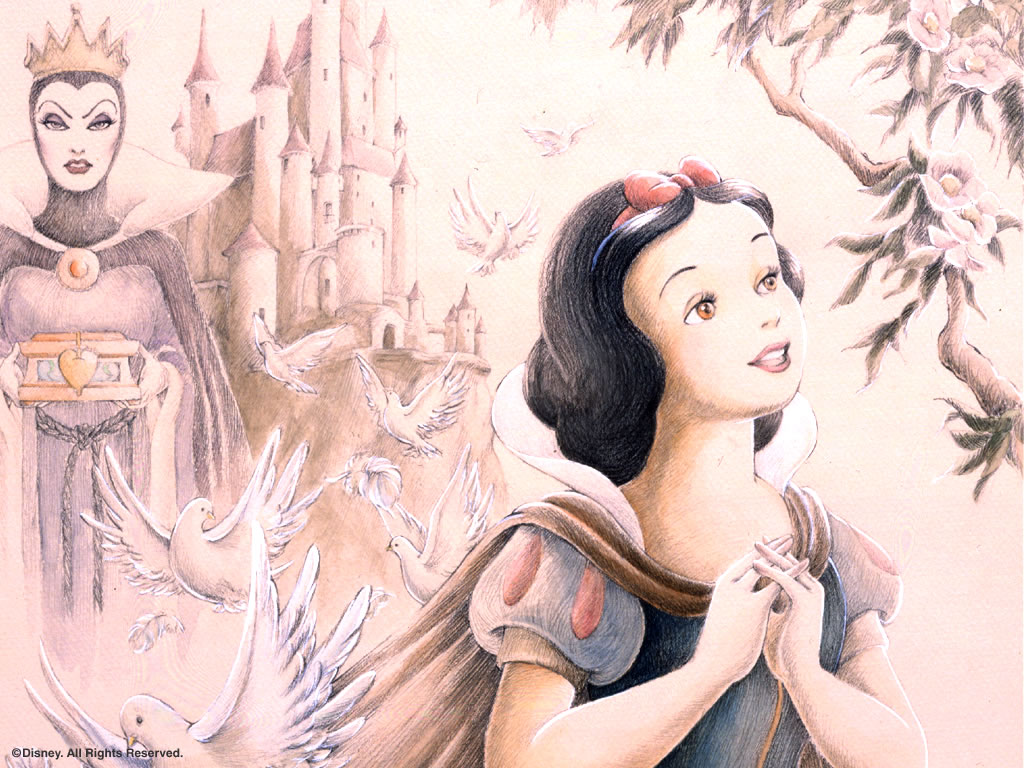 Cartoons Wallpaper: Snow White