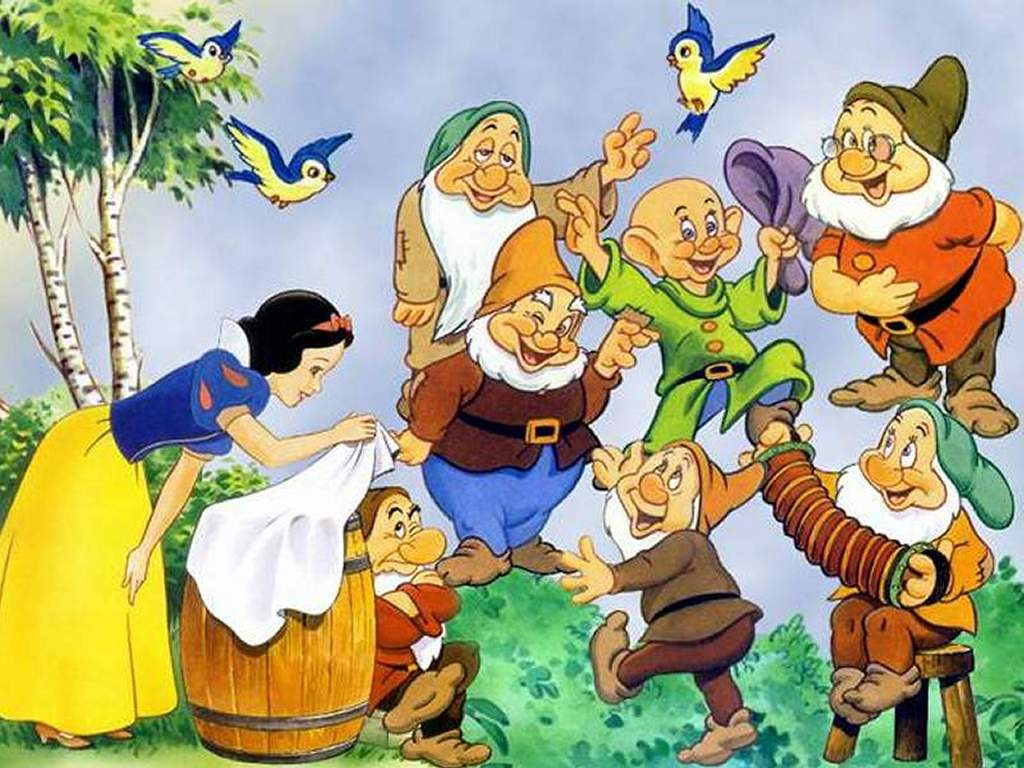 Cartoons Wallpaper: Snow White and the Seven Dwarfs