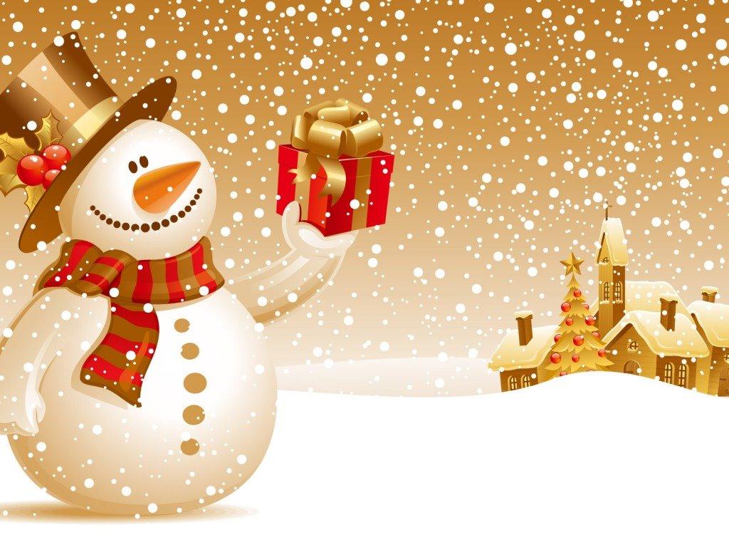 Cartoons Wallpaper: Snowman - Christmas