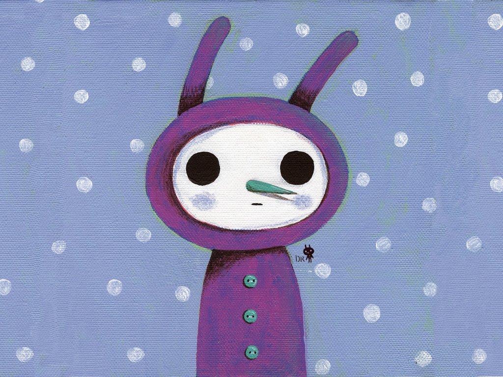 Cartoons Wallpaper: Snowman