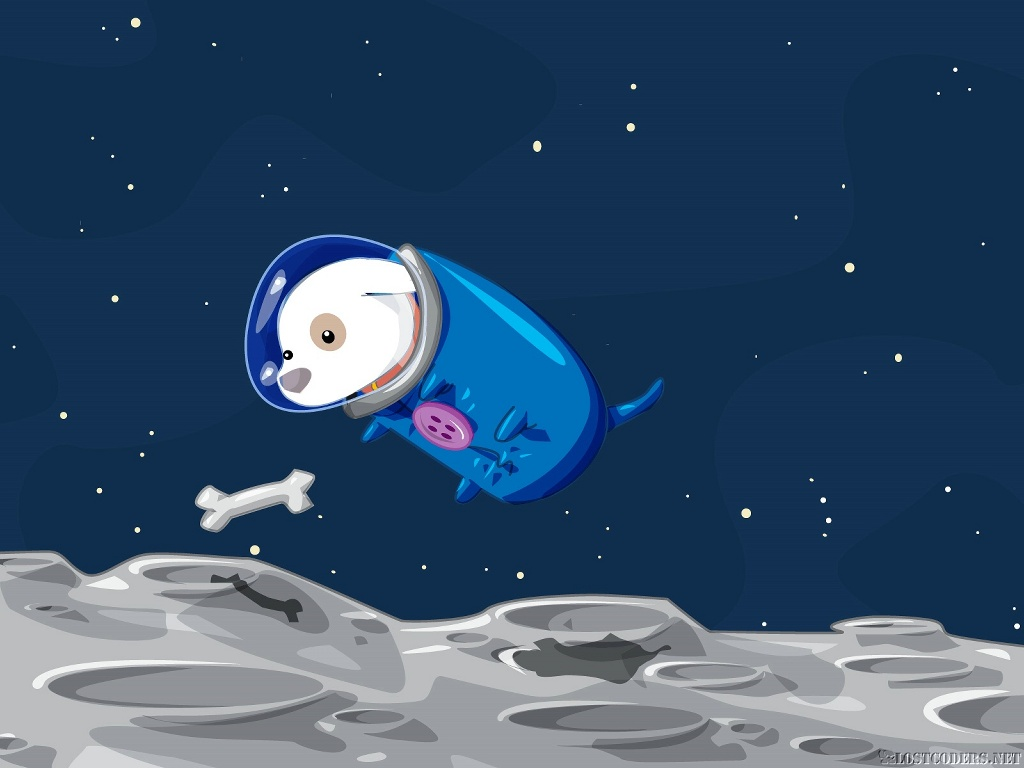 Cartoons Wallpaper: Space Doggy
