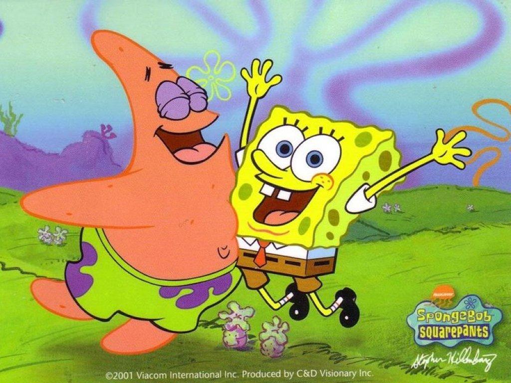 Cartoons Wallpaper: Spongebob and Patrick Star