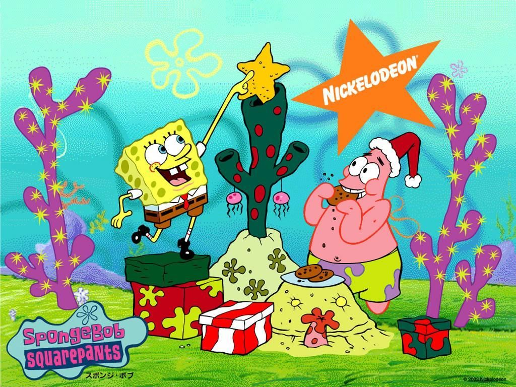 Cartoons Wallpaper: Spongebob - Christmas