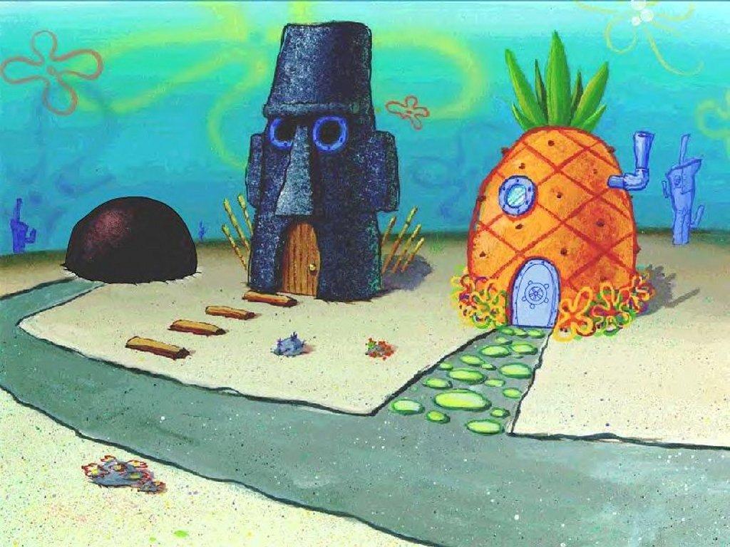 Cartoons Wallpaper: Spongebob - The Hood