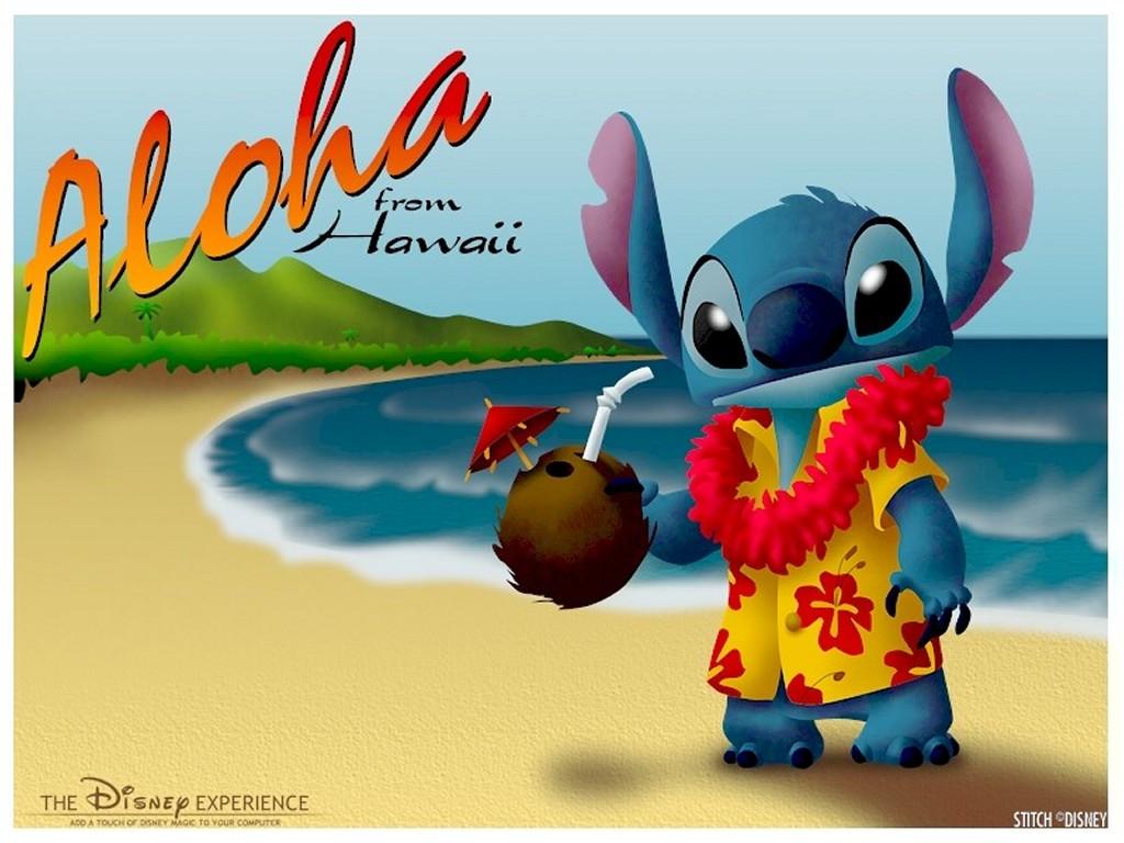 Cartoons Wallpaper: Stitch - Aloha from Hawaii