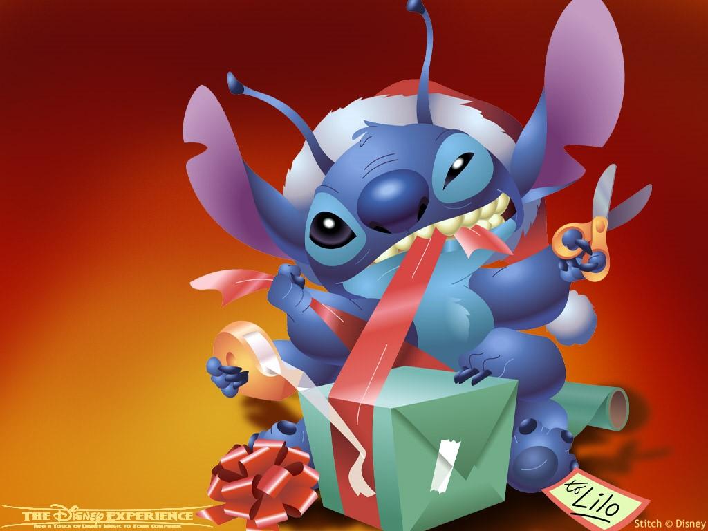 Cartoons Wallpaper: Stitch - Christmas