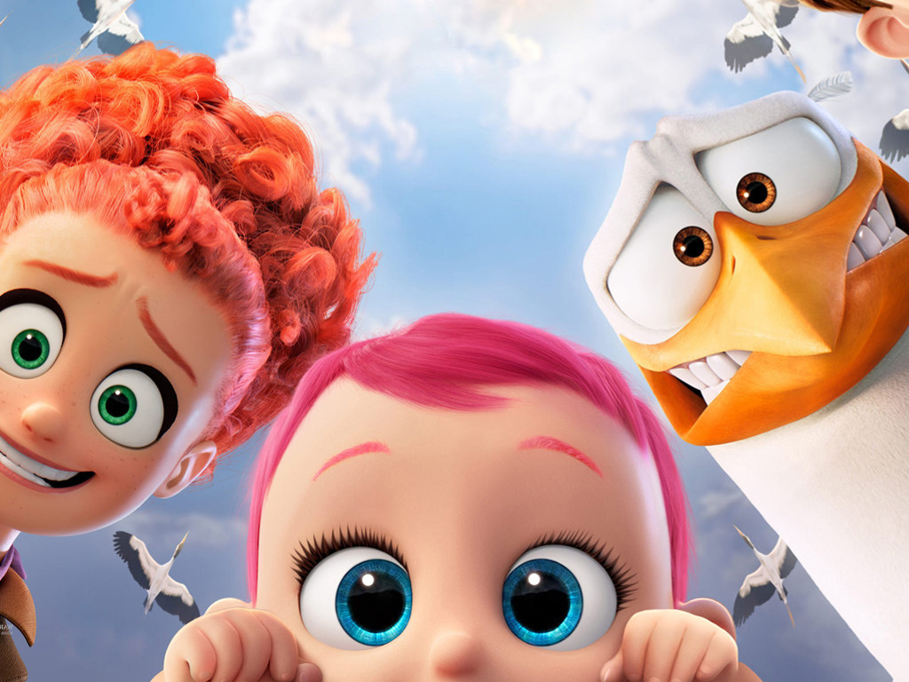 Cartoons Wallpaper: Storks
