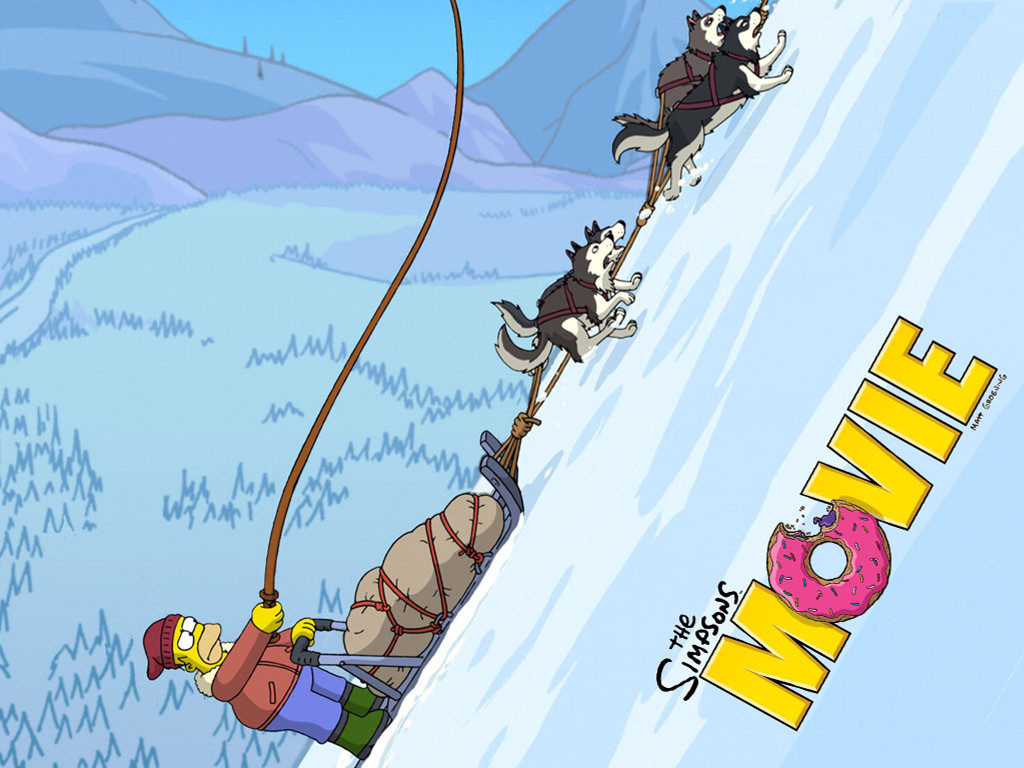 Cartoons Wallpaper: The Simpsons Movie