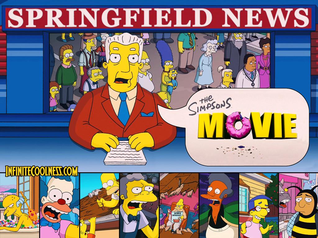 Papel de Parede Gratuito de Desenhos : Os Simpsons - Jornal de Springfield