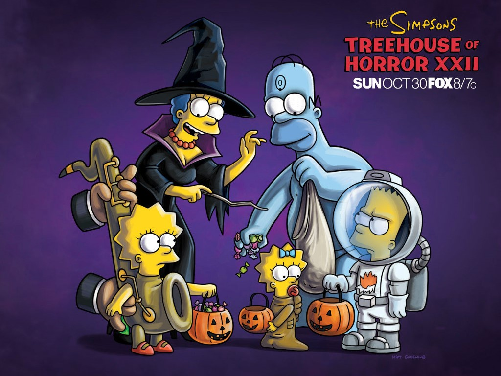 Cartoons Wallpaper: The Simpsons - Treehouse of Horror XII
