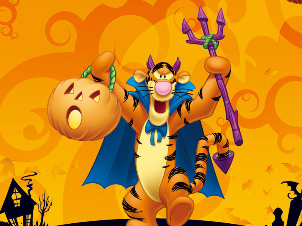 Cartoons Wallpaper: Tigger - Halloween