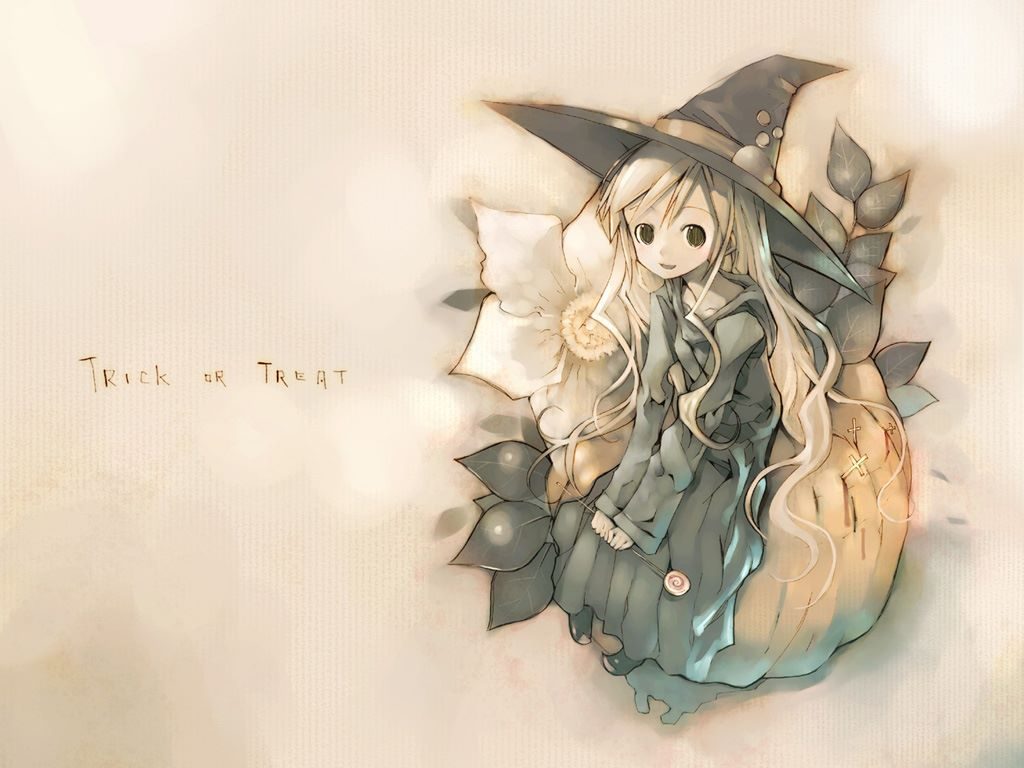 Cartoons Wallpaper: Halloween - Girl