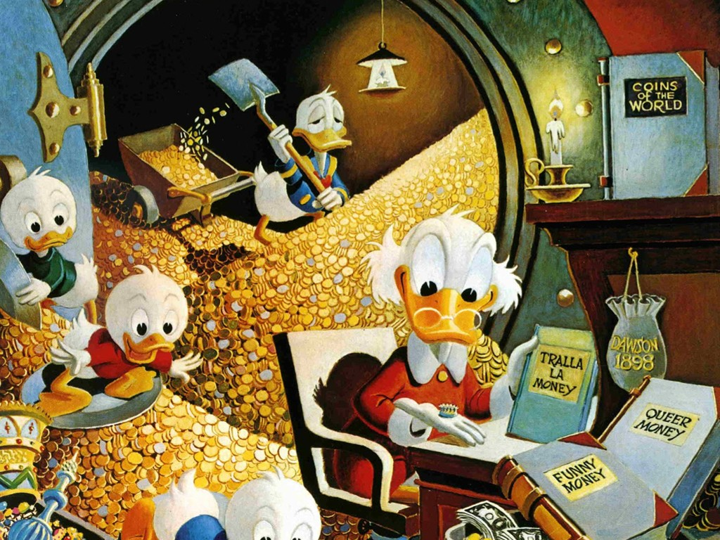 Cartoons Wallpaper: Uncle Scrooge and Nephews