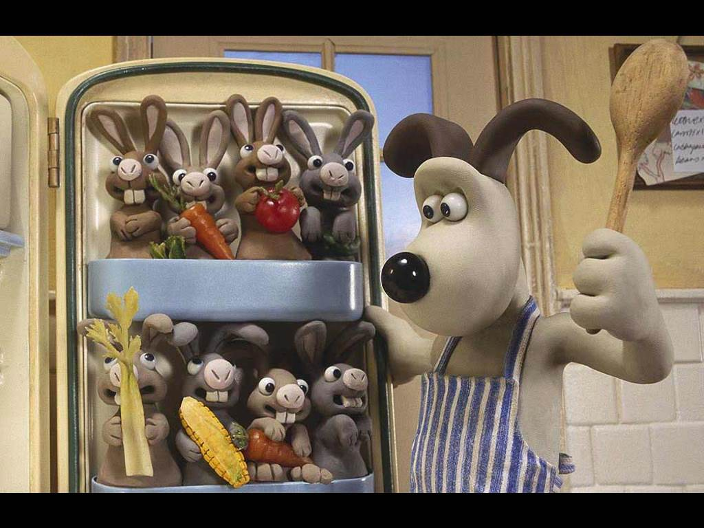 Cartoons Wallpaper: Wallace & Gromit - Rabbits