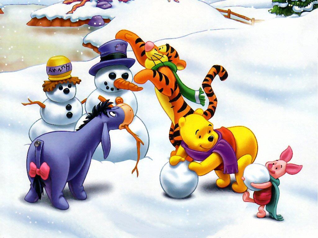 Cartoons Wallpaper: Pooh - Winter