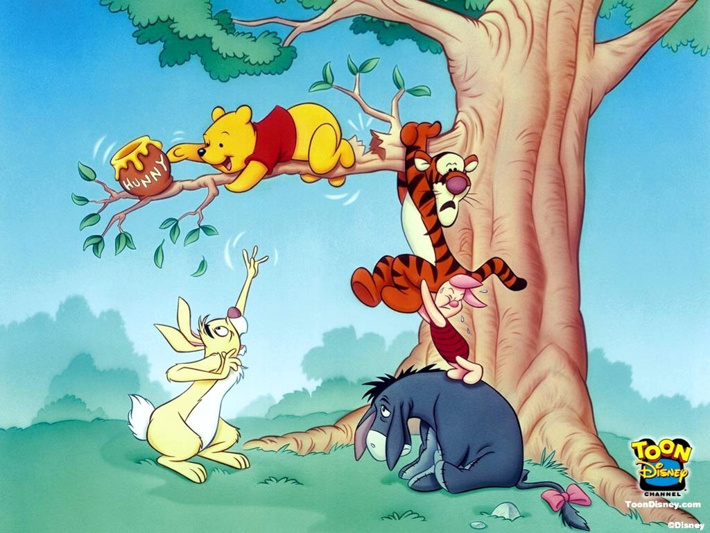 Cartoons Wallpaper: Pooh and Friends