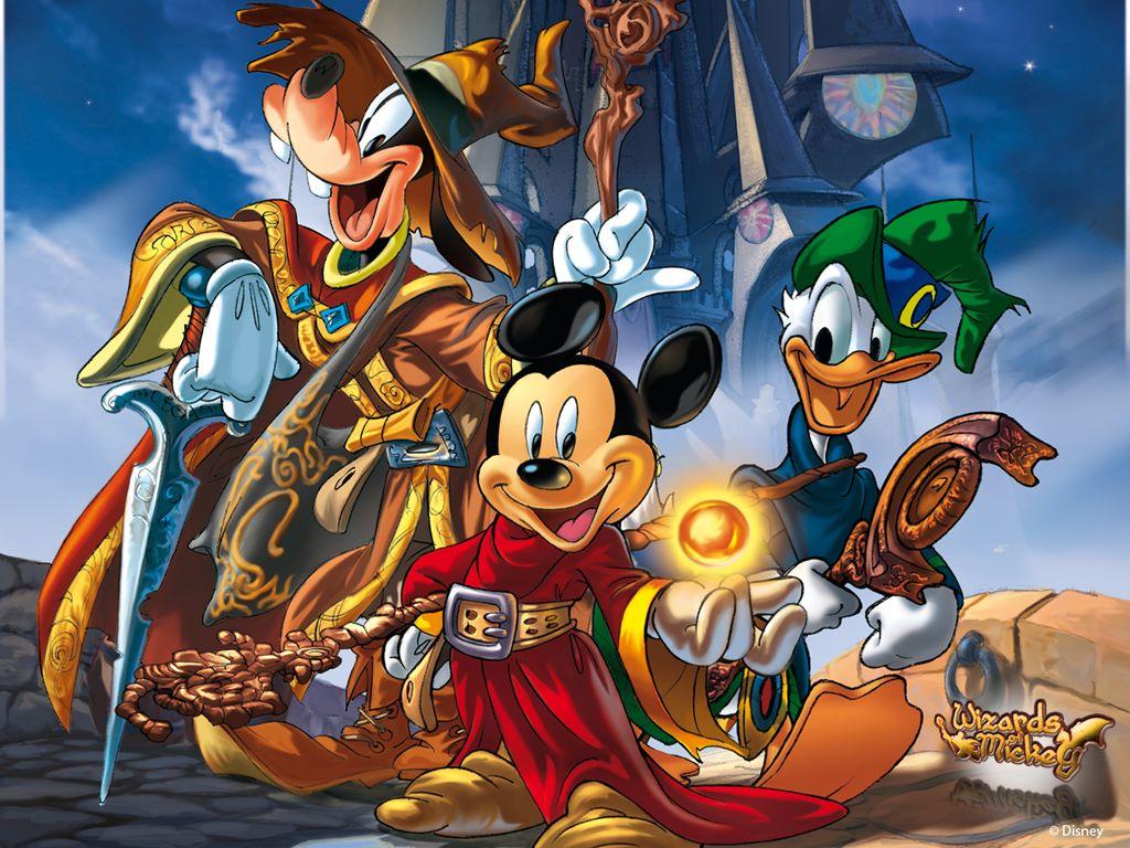 Cartoons Wallpaper: Wizards of Mickey