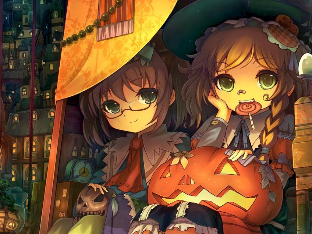 Comics Wallpaper: Anime - Halloween Girls