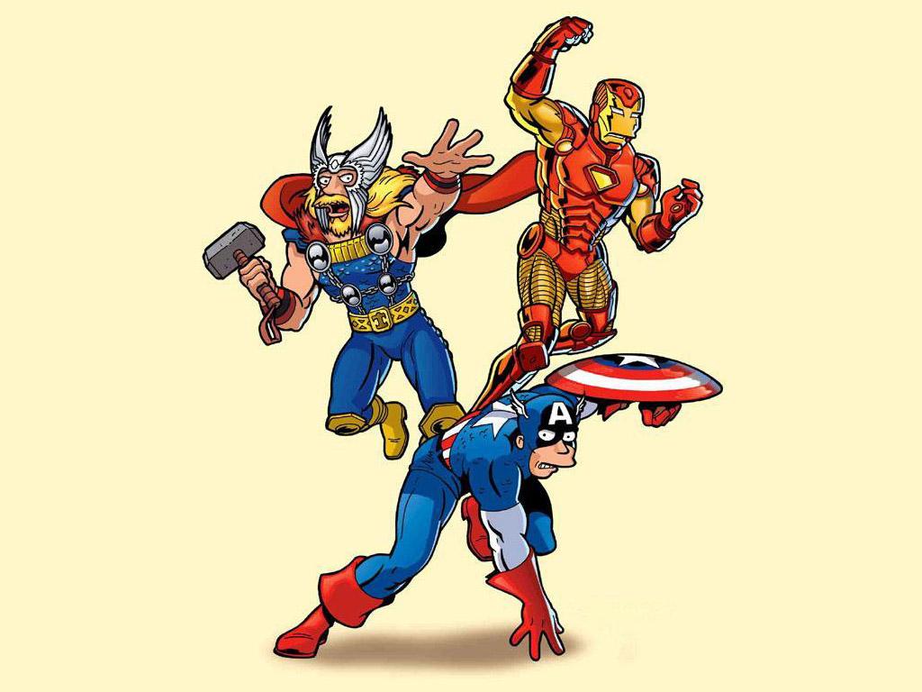 Comics Wallpaper: Avengers (by Matt Groening)