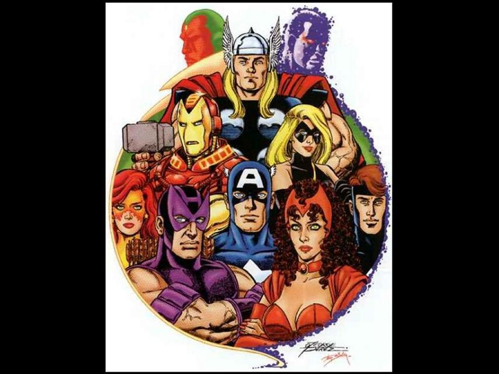Comics Wallpaper: Avengers by George Perez