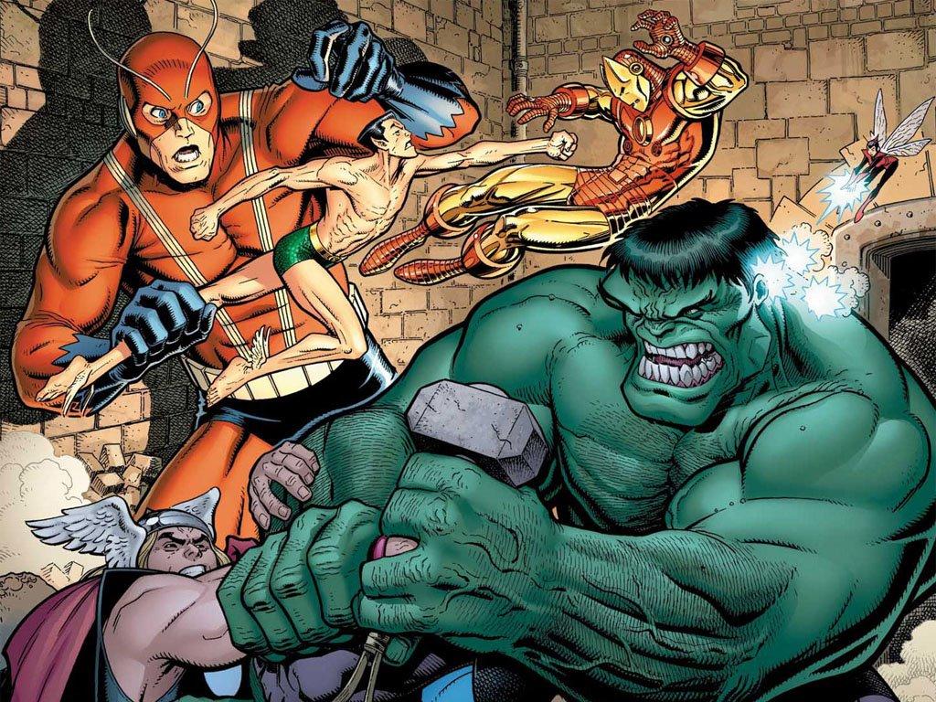 Comics Wallpaper: Avengers vs Defenders