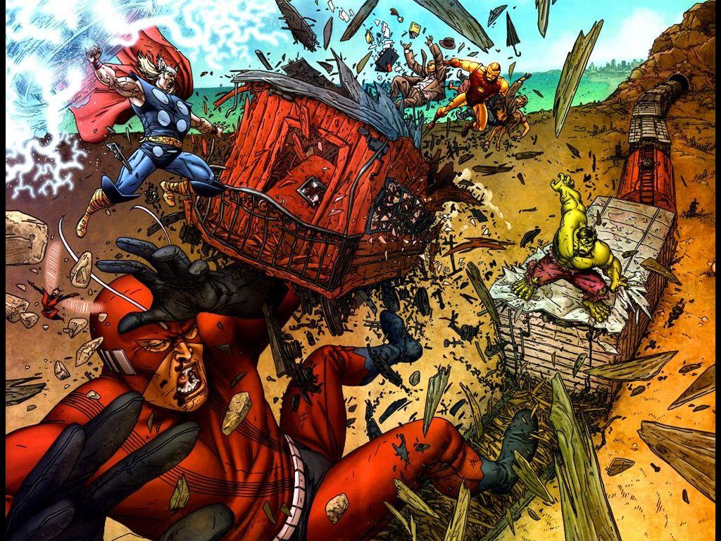 Comics Wallpaper: Avengers vs. Hulk