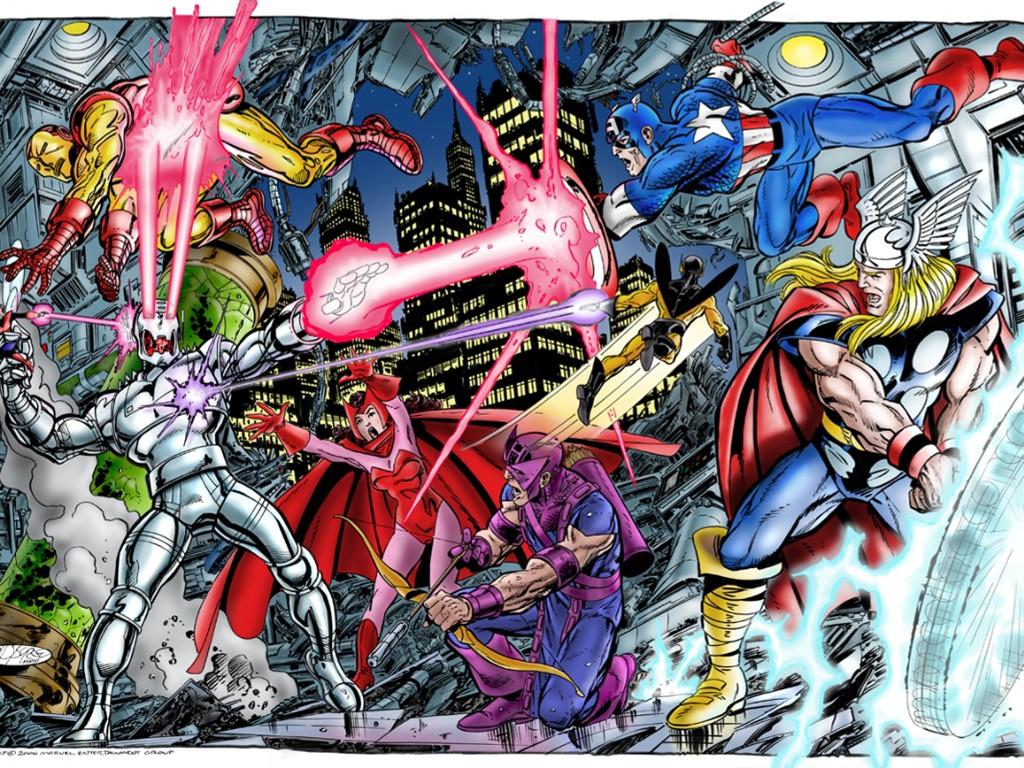 Comics Wallpaper: Avengers vs Ultron (by John Byrne)